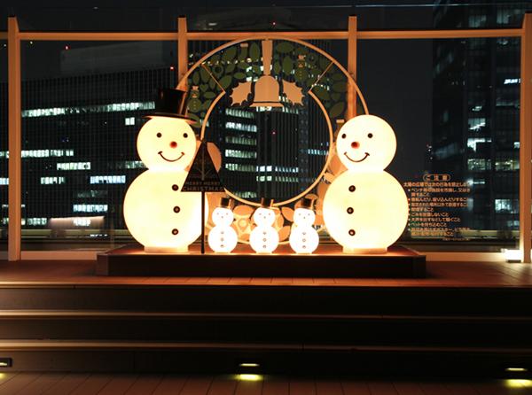 駅構内 クリスマス装飾